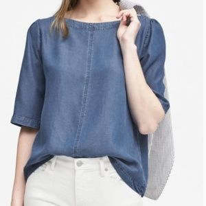 Banana Republic tencel denim top